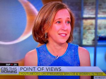 Susan Wojcicki on CBS This Morning/Photo: Screenshot CBS