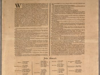 Woman name on the Declaration of Independence/Photo: Library of Congress Washington Post