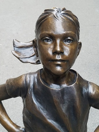 Kristen Visbal's Fearless Girl/Photo provided by Kristen Visbal
