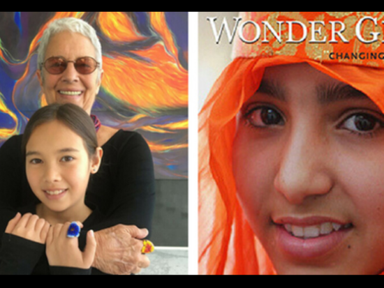 """Paola Gianturco and granddaughter Alex Sangster, authors of """"Wonder Girls"""" 