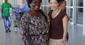 Jessica Yu, author of Garden of the Lost and Abandoned, and Gladys Kalibbala, and subject of the book/Photo: Michael Wawuyo