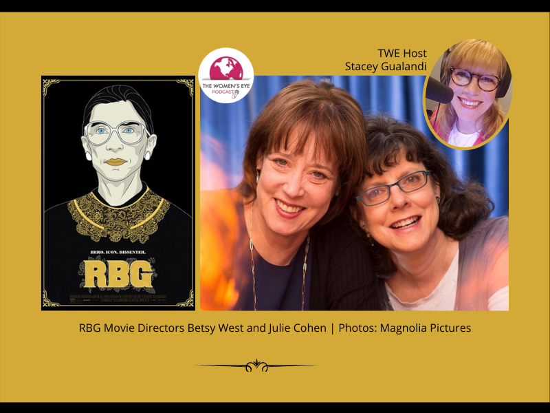 TWE 244: Directors Betsy West and Julie Cohen on their groundbreaking movie, RBG | with TWE host Stacey Gualandi | The Women's Eye