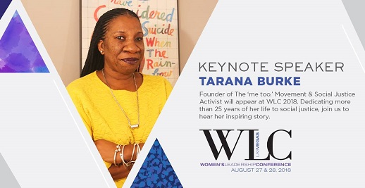Tarana Burke promo for Women's Leadership Conference, Las Vegas, Aug. 2018/Photo: Courtesy WLC