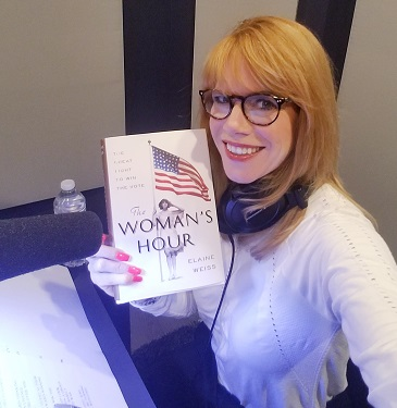 "Stacey Gualandi, TWE Radio host with ""The Woman's Hour"" by guest Elaine Weiss/Photo: Selfie"