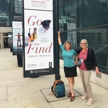 Susan Purvis, author Go Find, at Javits Center NYC/Photo Courtesy Susan Purvis