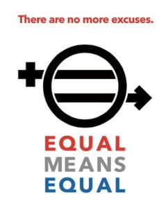"""Equal Rights Amendment logo provided by Kamala Lopez, director of """"Equal Means Equal"""""""