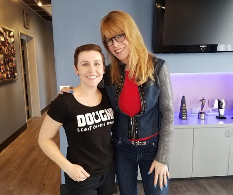 Kelsey Witherow, founder DOUGHP and Stacey Gualandi TWE Host/Photo Courtesy Kelsey Witherow