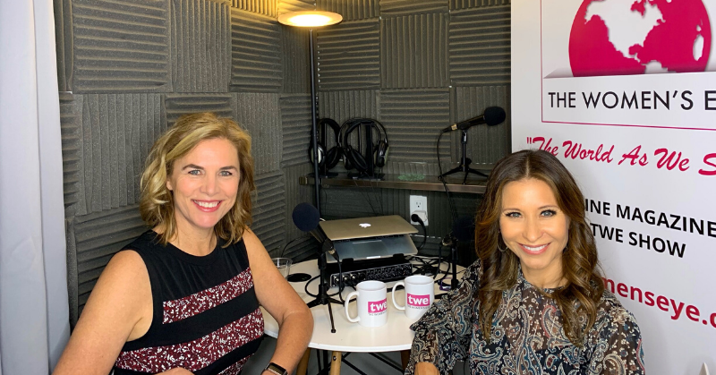 TWE Podcast Host Catherine Anaya with Karen Shell in the studio