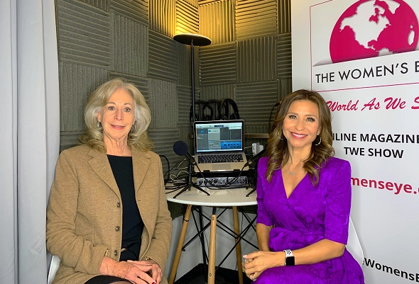 Catherine Scrivano, founder CASCO Financial, with Catherine Anaya on the right, host The Women's Eye podcast