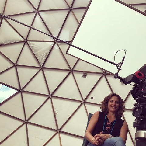 Stacey Reiss filming Day 1 in geodesic dome/Synergia Ranch for Spaceship Earth/Photo Courtesy Stacey Reiss