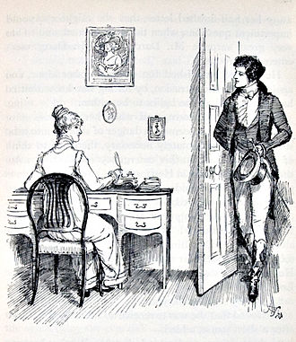 Illustration of Pride and Prejudice from Hugh Thomas/1894/Wikipedia Commons