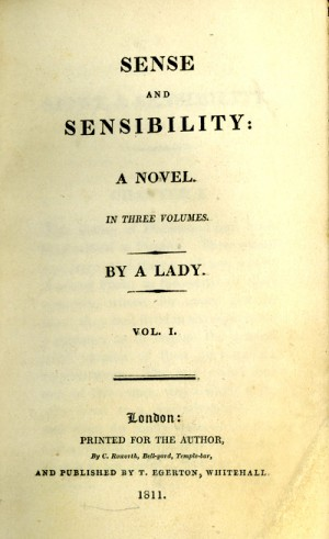 Title page from the original 1911 edition of Sense and Sensibility by Jane Austen/Wikipedia Commons