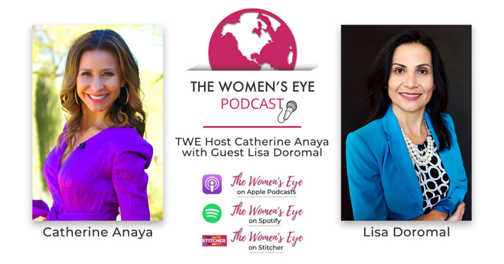 Catherine Anaya, The Women's Eye podcast host, and Lisa Doromal, CEO and Exec. Dir. Dress for Success Phoenix