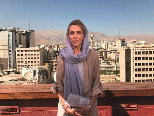 Clarissa Ward visiting Tehran after years of trying to get an Iranian visa, August 2019 Courtesy Scott McWhinnie for The Women's Eye 20 Women Storytellers book | Co-editors Pamela Burke and Patricia Caso