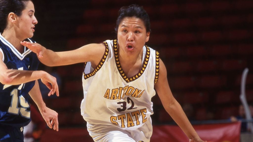 Dr. Michelle Tom, Navajo family physician and former ASU women's basketball player, now on the front lines of the pandemic/Photo: Sun Devil Athletics