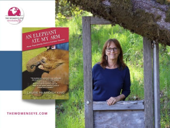 """Laurie McAndish King author photo (credit JM Shubin) with her new book, """"An Elephant Ate My Arm"""" 