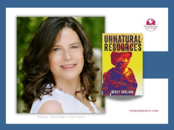 """Author Mindy Uhrlaub with her book, """"Unnatural Resources"""" 