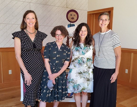 Mindy Uhrlaub and her friends celebrating Women's Equality Day in northern California